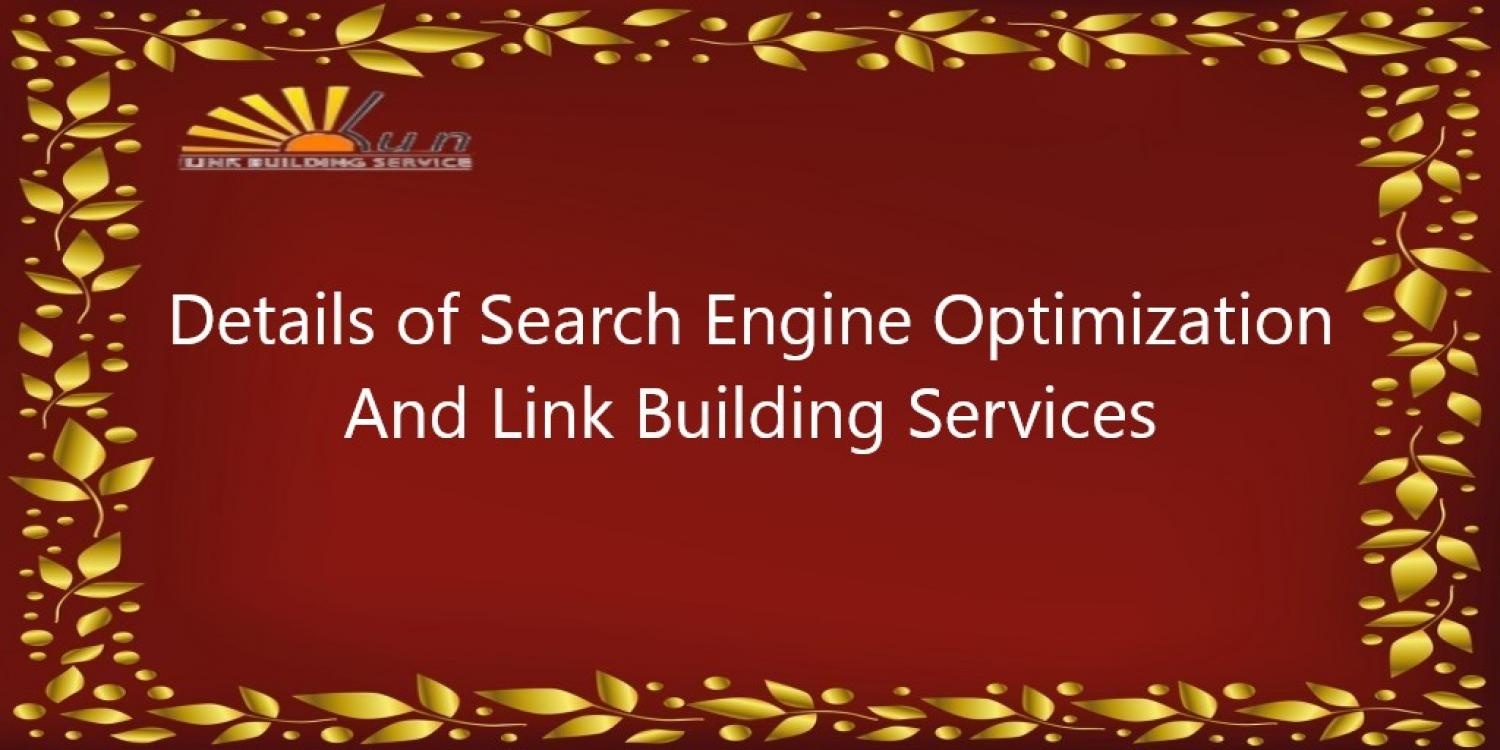 Details Of SEO And Link Building Services