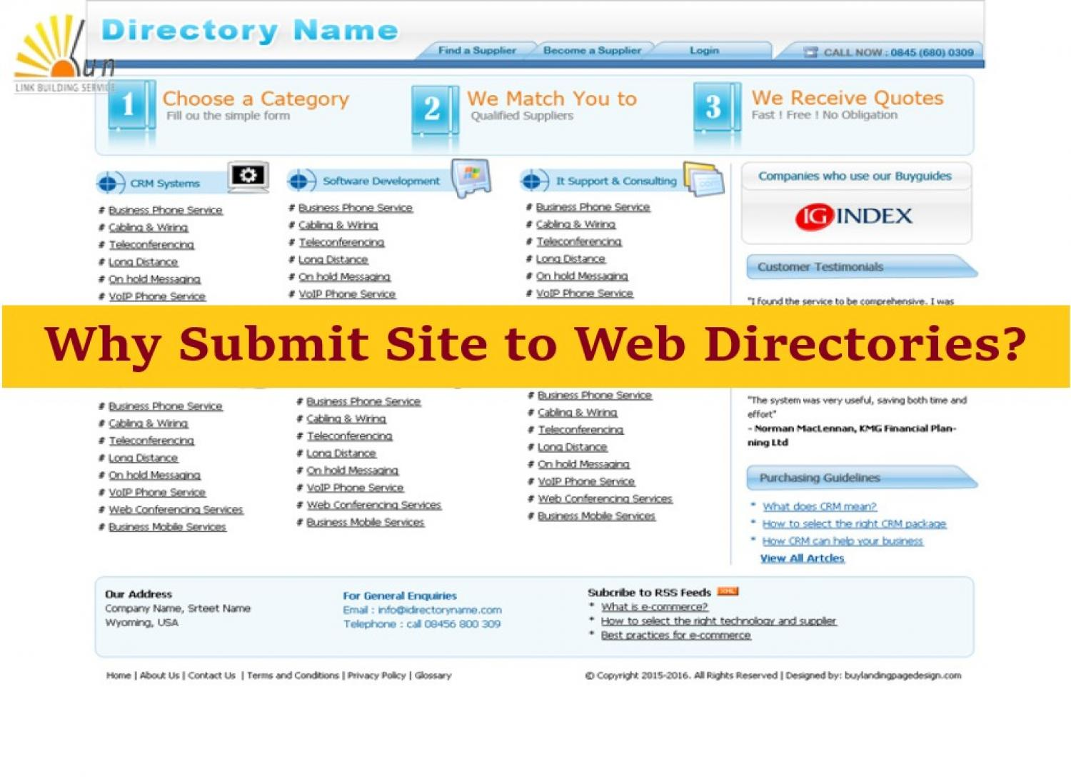 Why Submit Website Details To Web Directories?