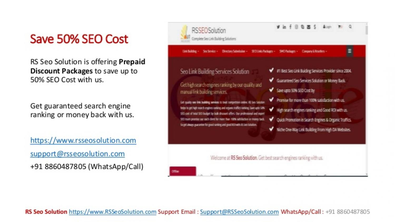 Promote Website Online and Save Up To 50% SEO Budget