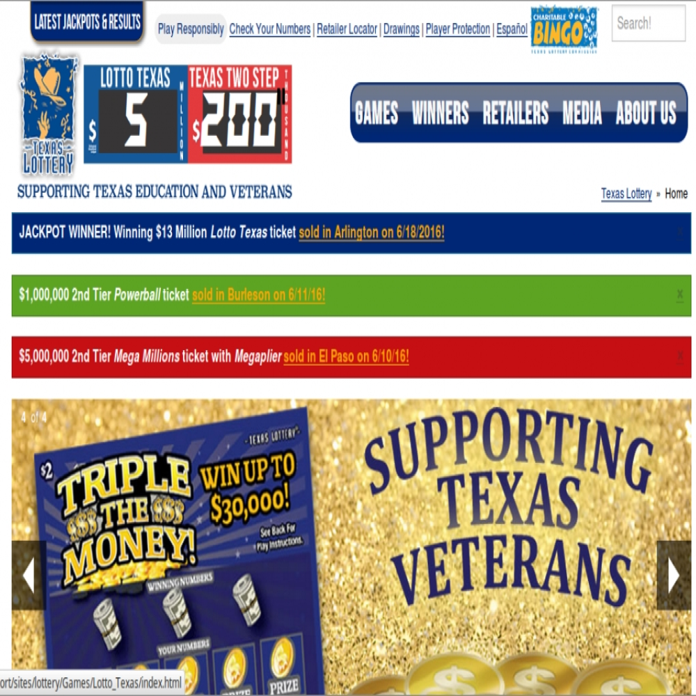 SEO Portfolio for Texas Lottery